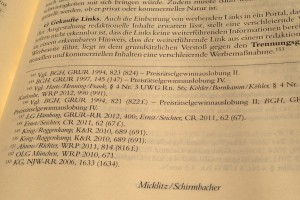 Spindler/Schuster Recht der elektronischen Medien, 3. Auflage, UWG kommentiert von Micklitz/Schirmbacher, Linkaufbau